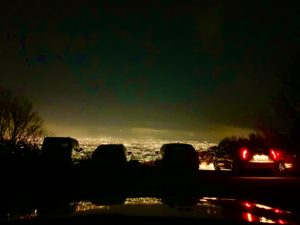 十三峠 車内からの夜景